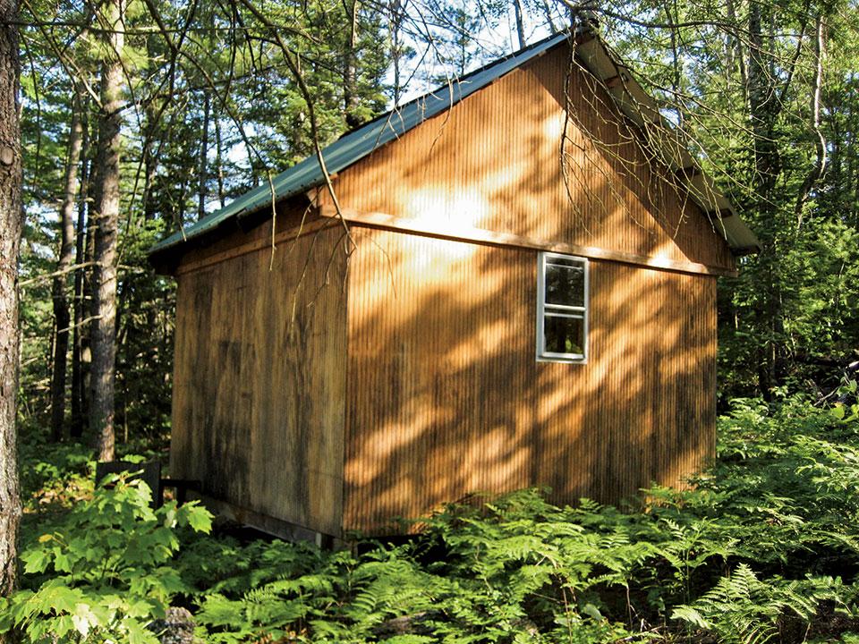 stick-framed cabin