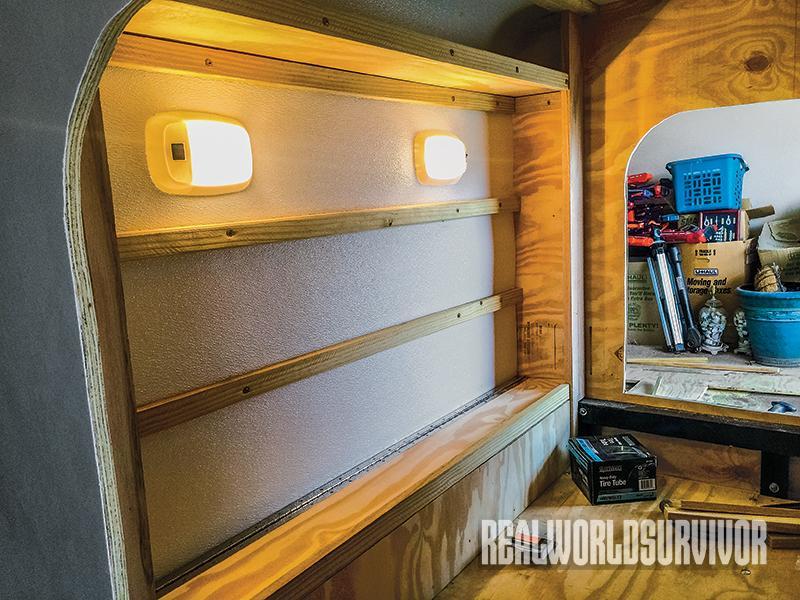 Keiper built shelves.