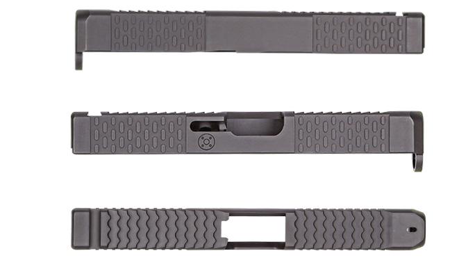 BattleComp BCE Custom Glock 19 Slide with ATEi Top Serrations, Glock Slides