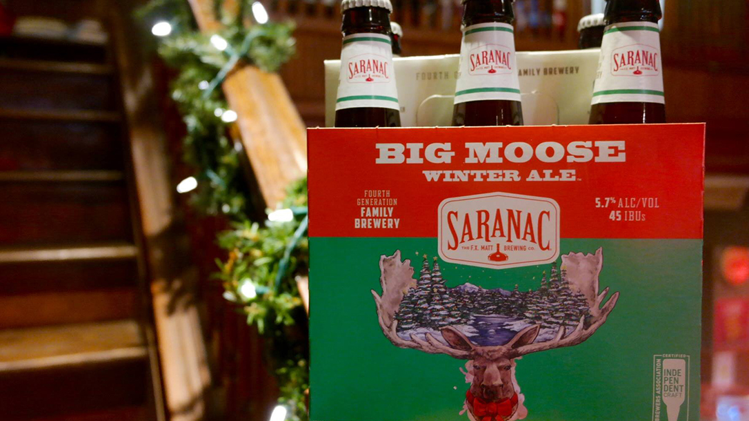 Holiday Drinks Ballistic Saranac Big Moose Winter Ale