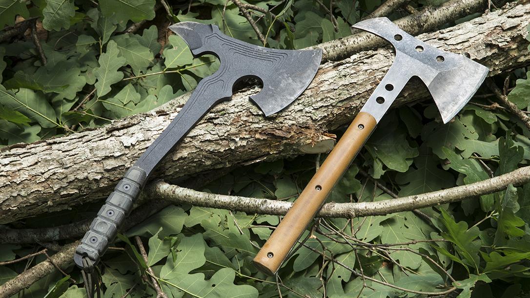 Tops VI Ax vs. Half Life Knives Tactical Hawk lead