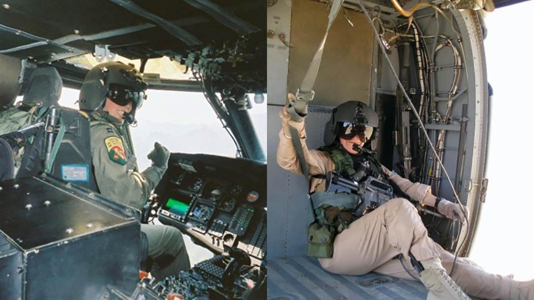Rescue Pilot MJ Hegar helicopter