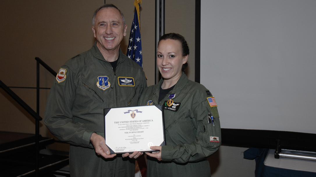 Rescue Pilot MJ Hegar Purple Heart