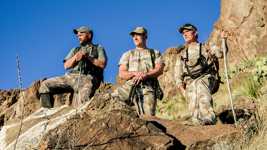 Hunting Aoudad Sheep Browning X-Bolt Hell's Canyon Speed Rifle team