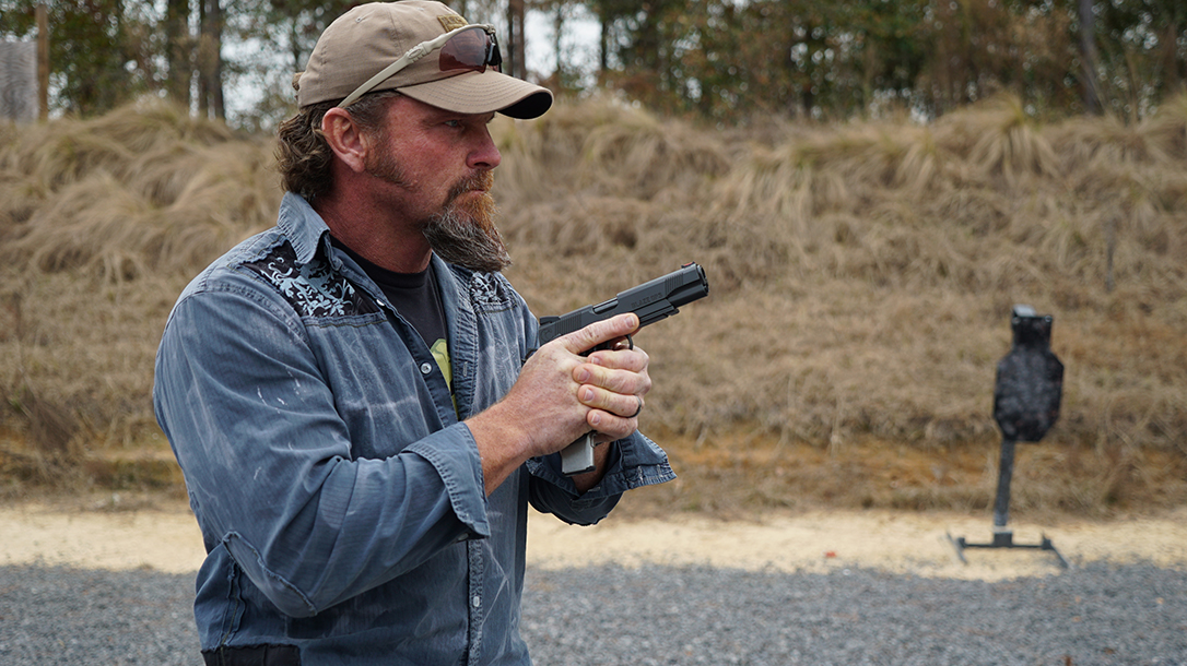 Pat McNamara Carolina Arms Group Blaze Ops 1911 Pistol lead