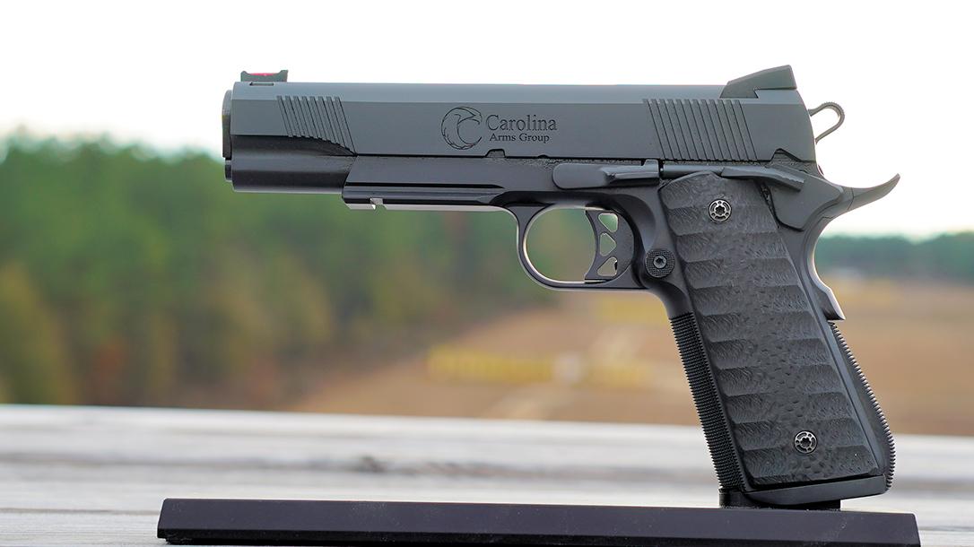Pat McNamara Carolina Arms Group Blaze Ops 1911 Pistol left