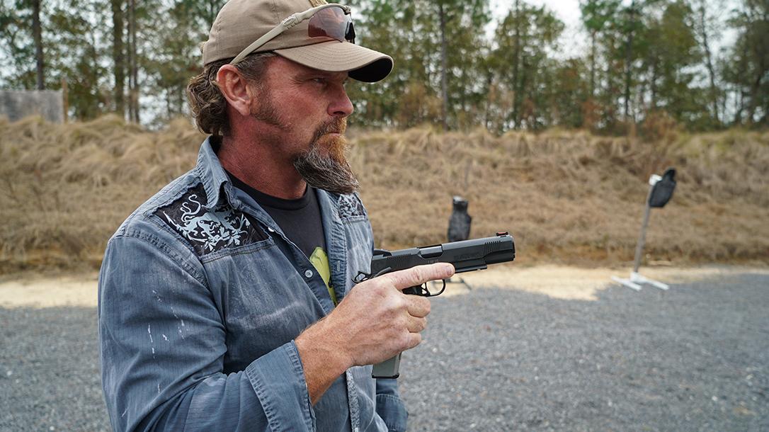 Pat McNamara Carolina Arms Group Blaze Ops 1911 Pistol Mac