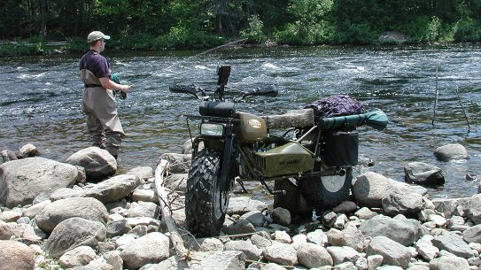 Rokon Motorcycle fishing