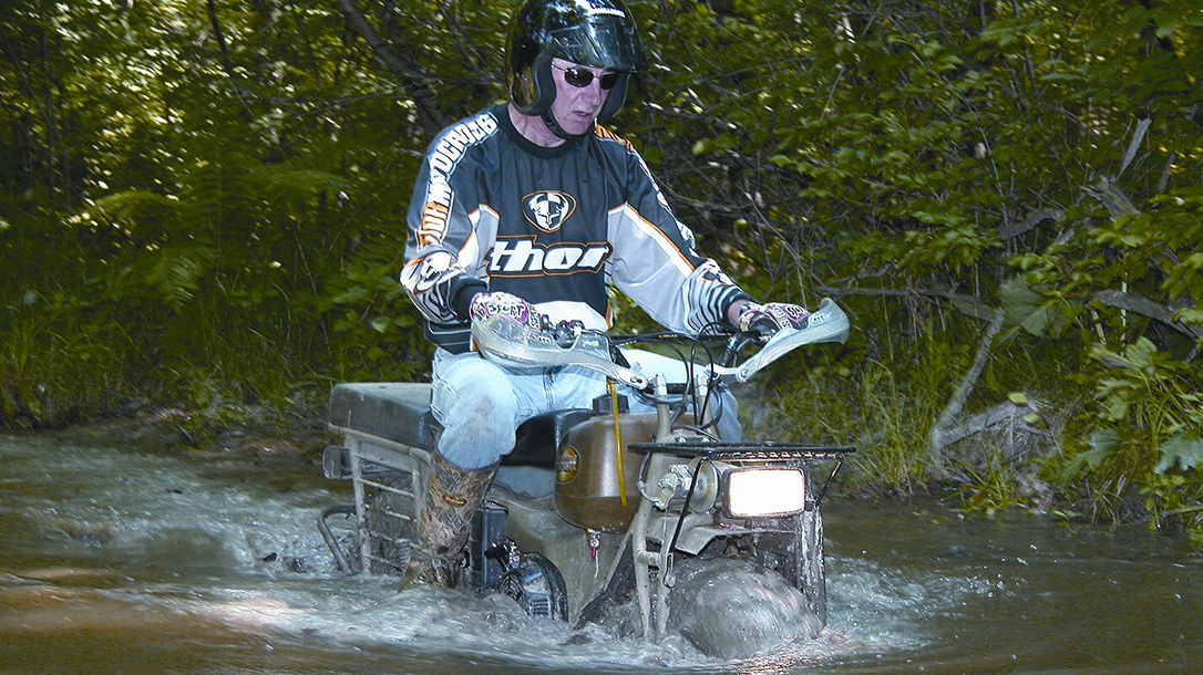 Rokon Motorcycle submerged water