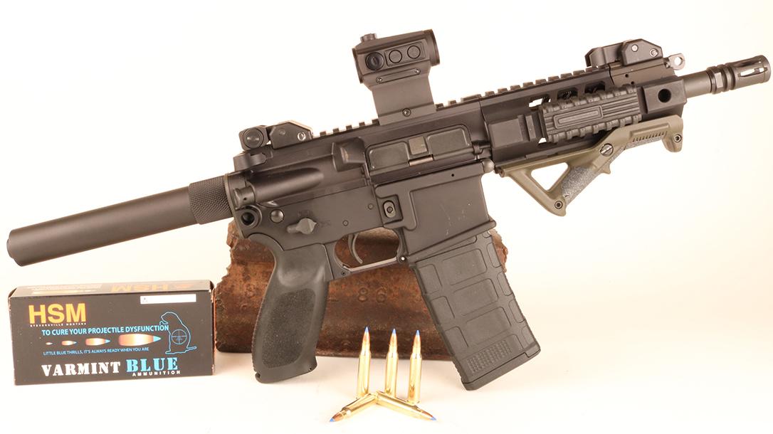 Death Wish remake 2018 full-auto AR15 pistol
