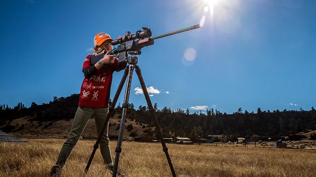 MaryBeth Olson, Long-Range Shooting, Rifle Shooting, tripod