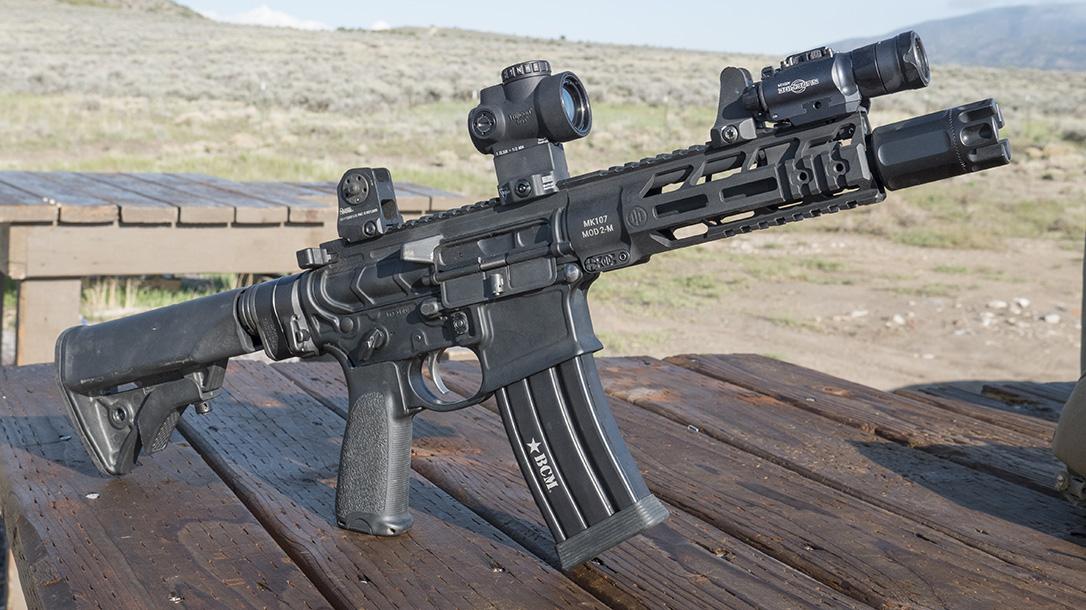 Trijicon MRO Green Dot, Mini Rifle Optic, green dot sight, MK107 Rifle
