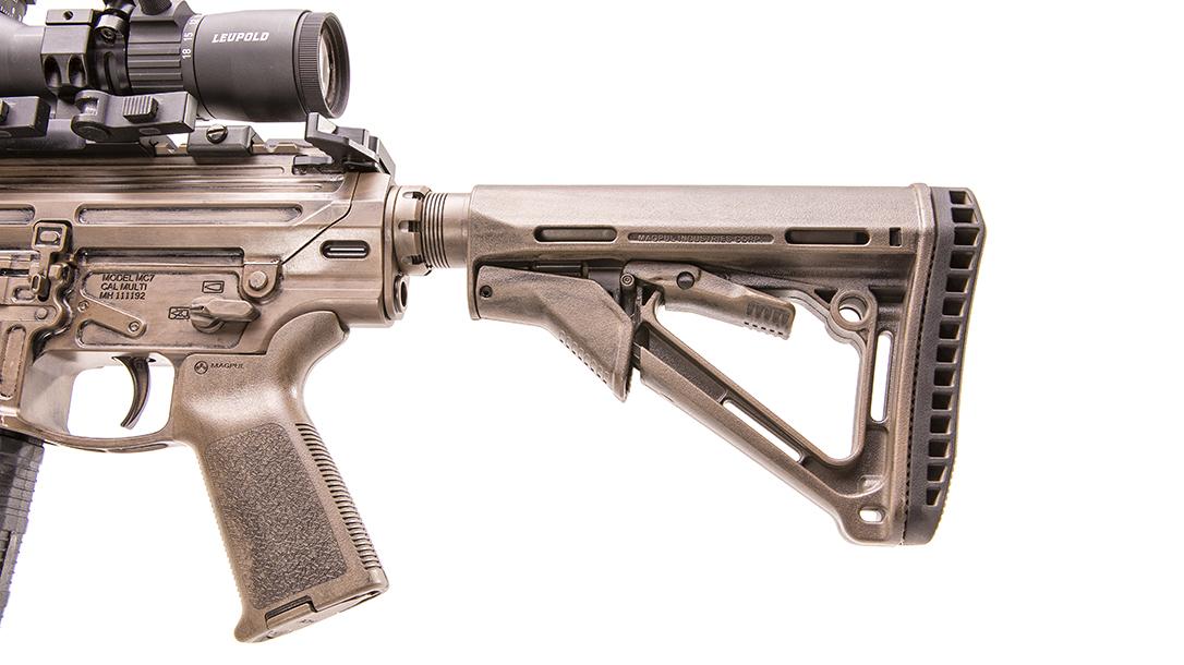 Modern Outfitters MC7 Rifle, gun test, stock