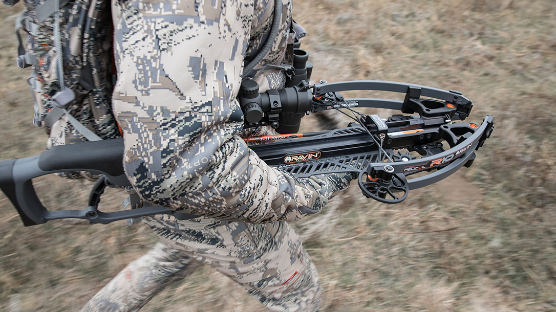 Ravin R9 Predator Camo Crossbow carry