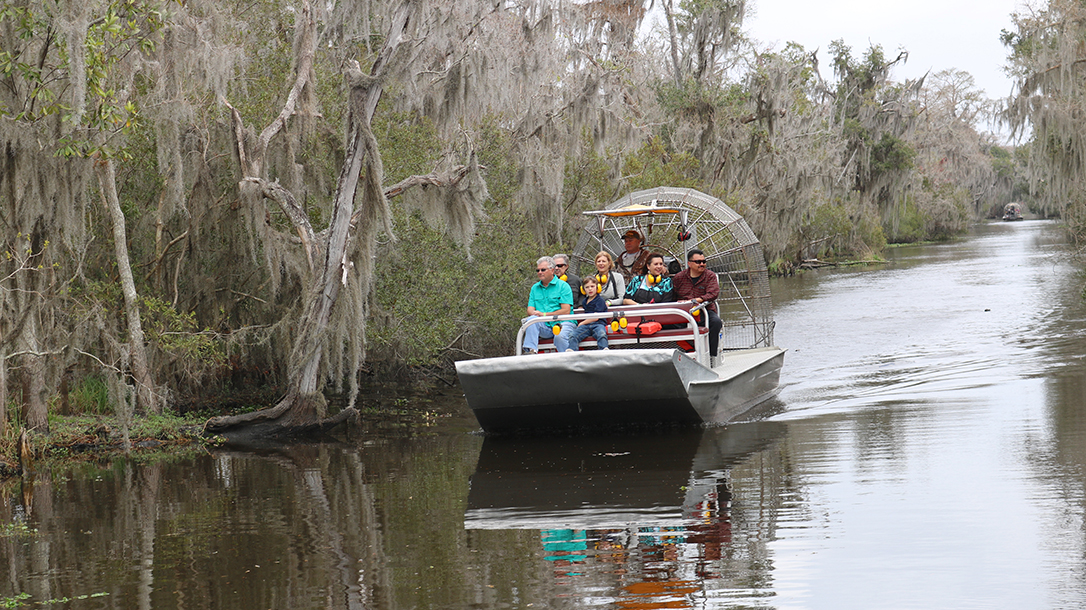 New Orleans Road Trip, Gators and Guns, airboat tour