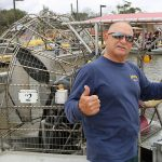New Orleans Road Trip, Gators and Guns, airboat captain