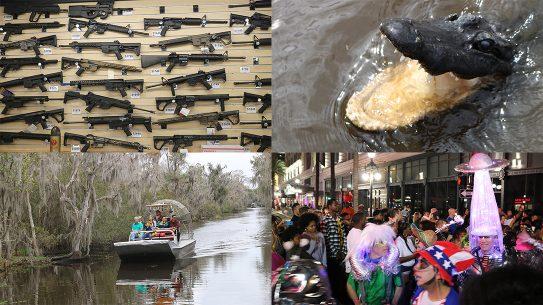New Orleans Road Trip, Gators, Guns, Airboats, Mardi Gras