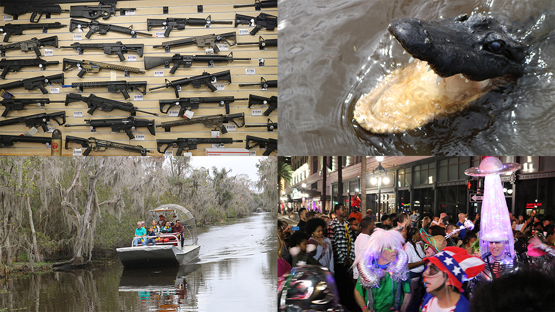 New Orleans Road Trip, Gators, Guns, Airboats, Mardi Gras