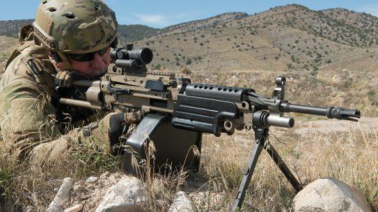 Machine Gun Armory M249 SAW aiming