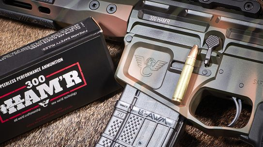 Wilson Combat 300 HAM'R, ammo box, cartridge, rifle