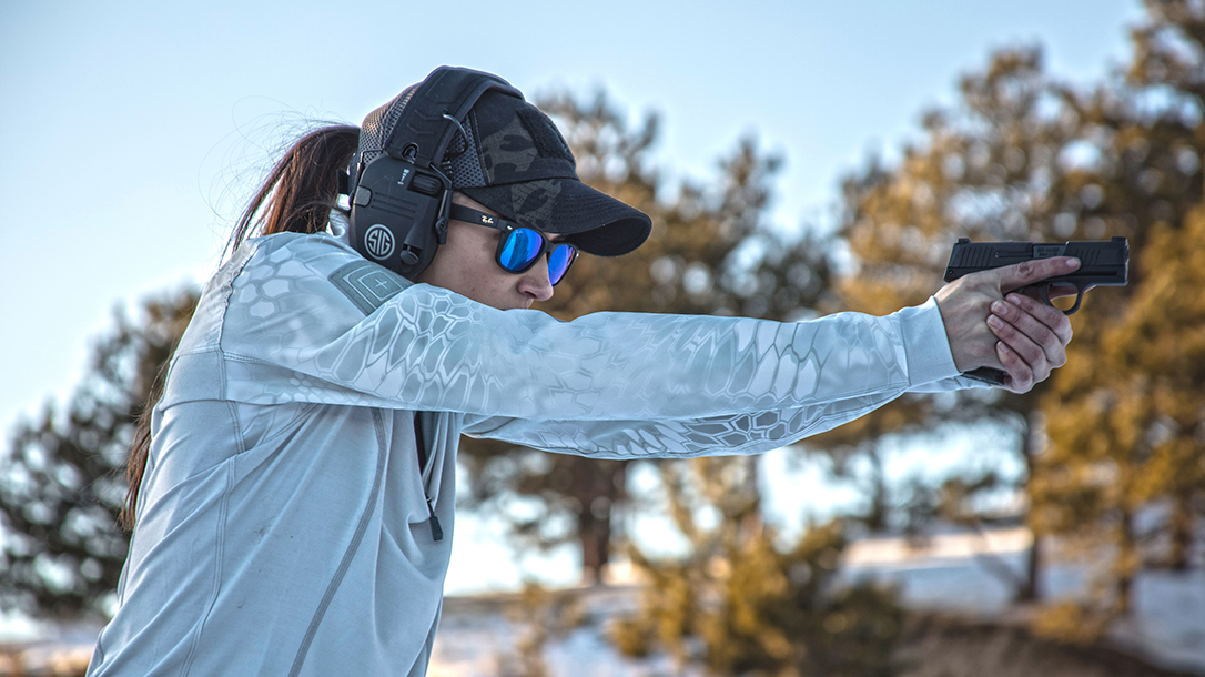 High Bar Homestead Wyoming, Lauren Young, SIG P365 pistol