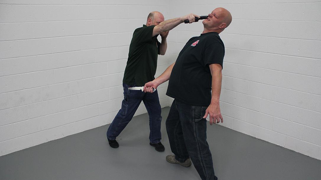 Pistol Whip Technique, self-defense, Step 5