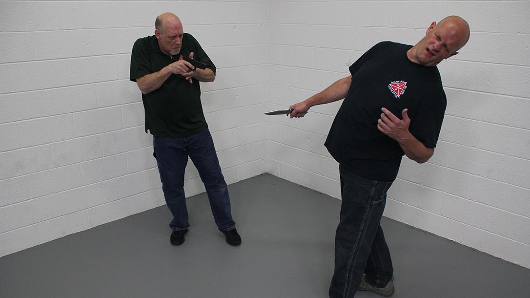 Pistol Whip Technique, self-defense, Step 6