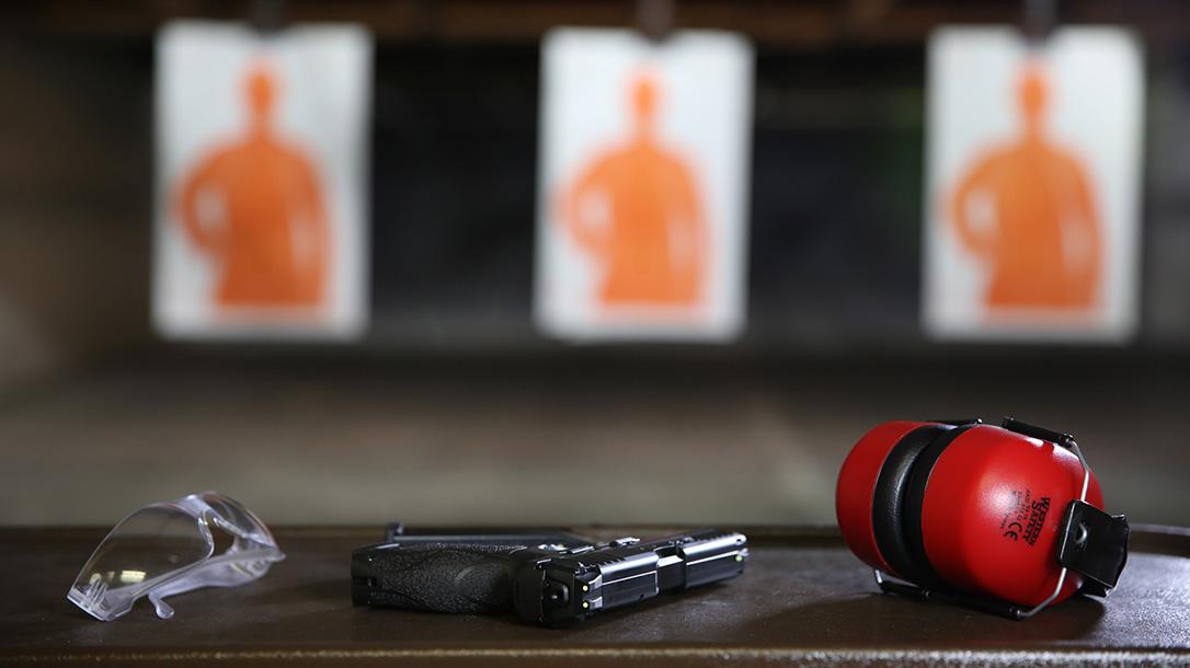 Indoor Shooting Range, guns, gear