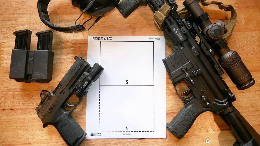 Indoor Shooting Range, Aaron Barruga setup