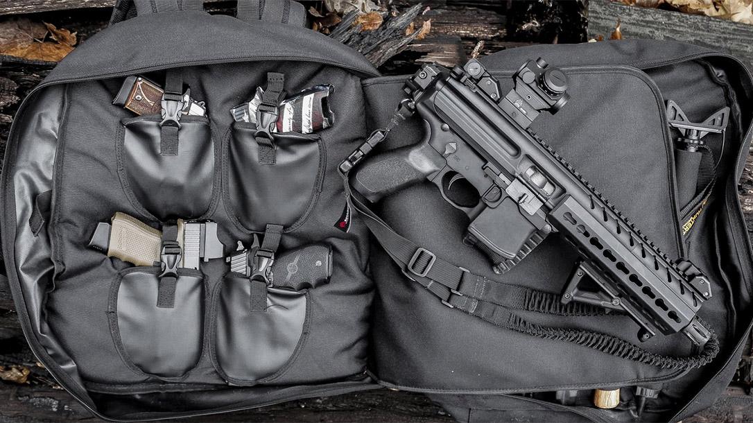 Ballistic Gear Grab, Hackett Equipment Big Bertha Range Backpack, guns