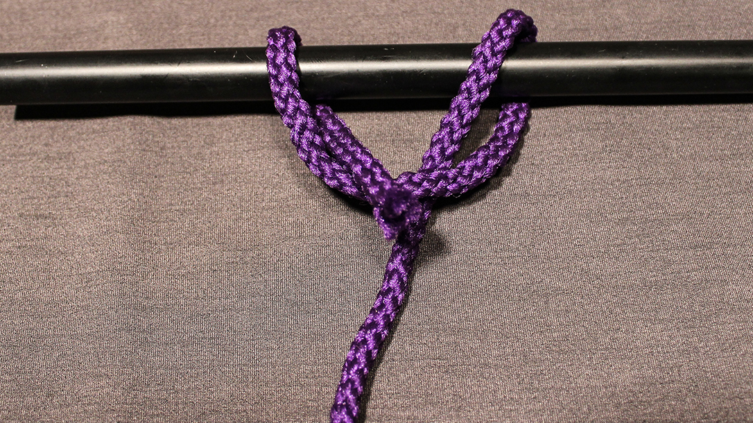 Rope Knots, Clove Hitch, Step 2