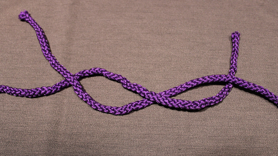 Rope Knots, Square Knot, Step 2