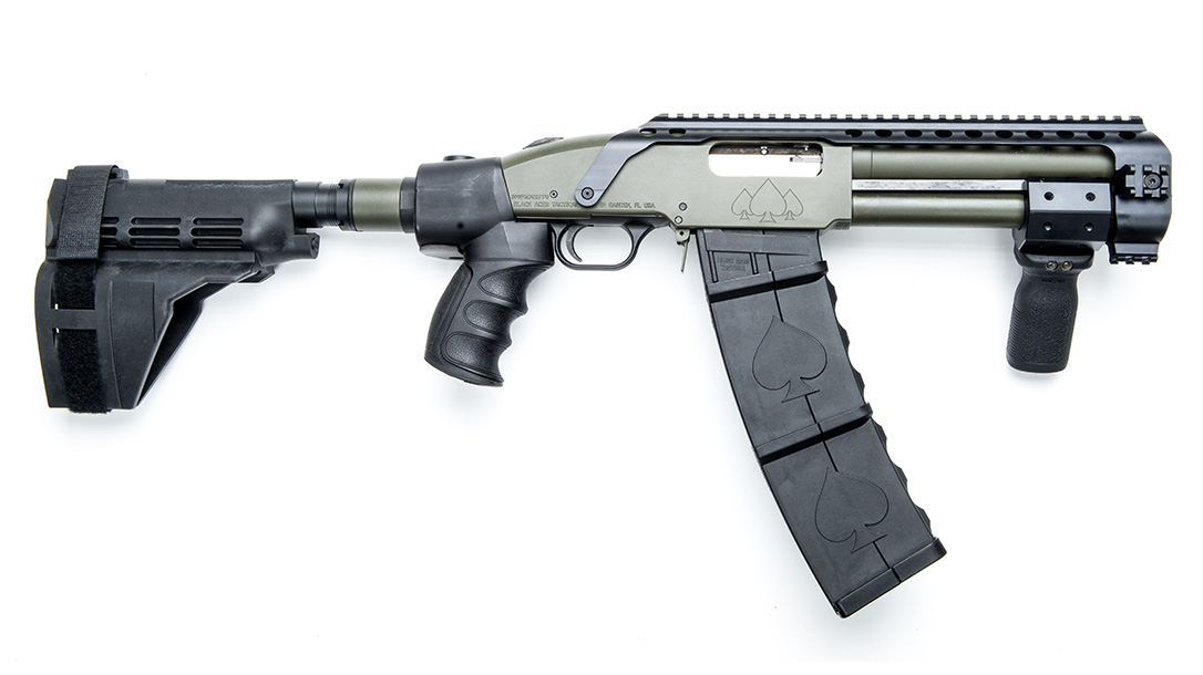 Black Aces Tactical DT Shotgun, 12-gauge shotgun, profile right
