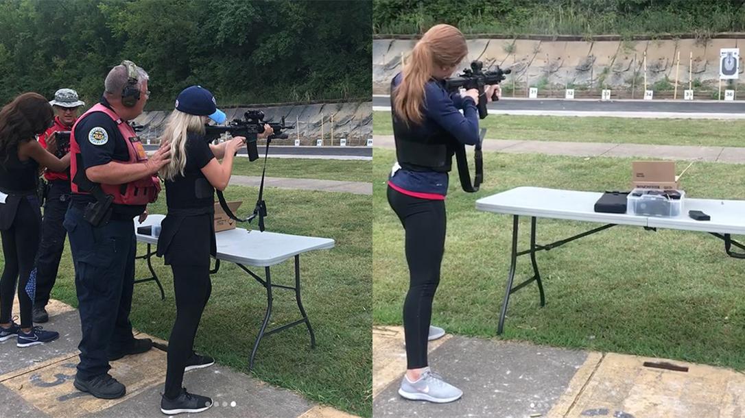 Tennessee Titans Cheerleaders Guns, Firearms Training, Metro Nashville Police Department