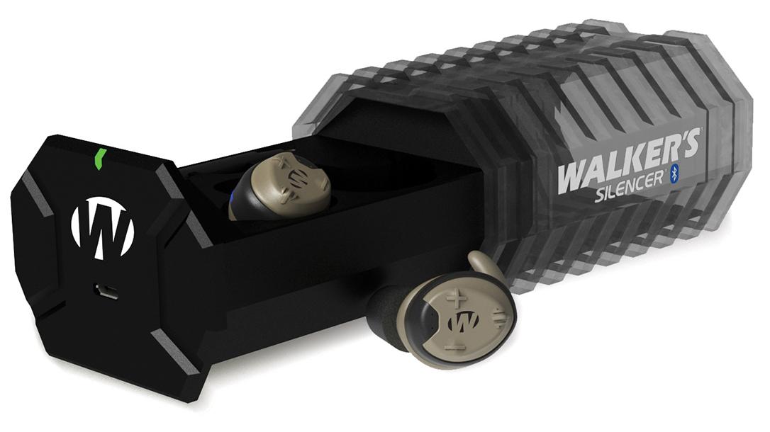Ballistic Gear Grab, Walker's Silencer Bluetooth Rechargeable earmuffs