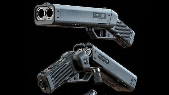MOTH3R 12-Gauge DX-12 Double Barrel Shotgun Pistol, Ivan Santic, lead