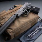 SIG P229 Legion Pistol, SRD9 Suppressor, pistol review, left