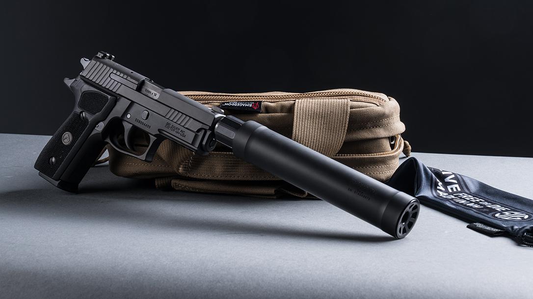 SIG P229 Legion Pistol, SRD9 Suppressor, pistol review, right