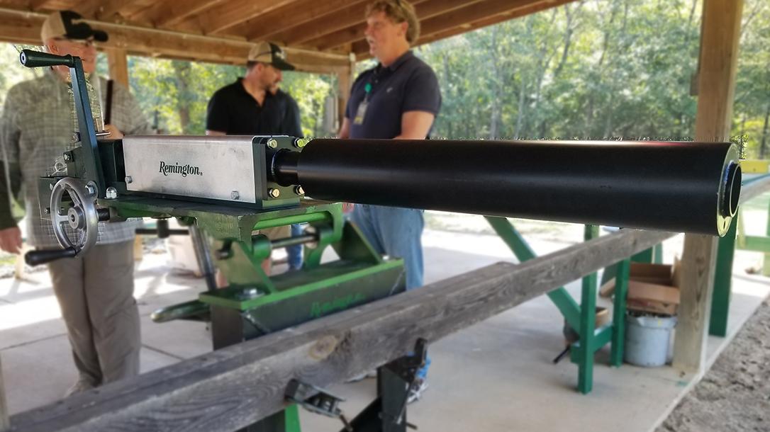 Remington MasterBlaster, 8-gauge, industrial gun, range test
