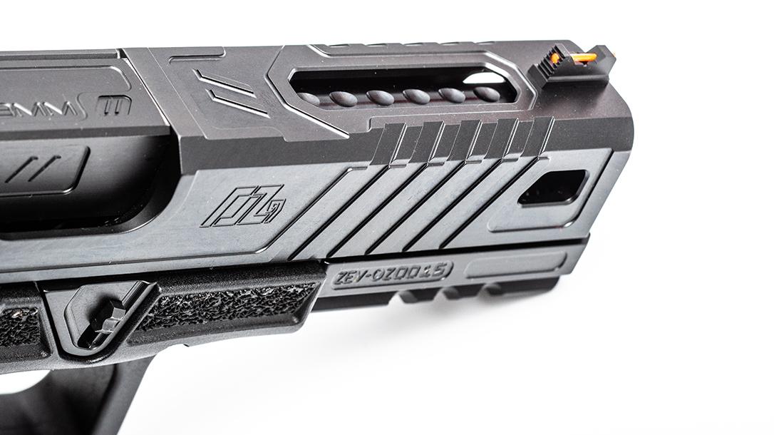 ZEV OZ9 Pistol, ZEV Technologies OZ9, pistol review, slide