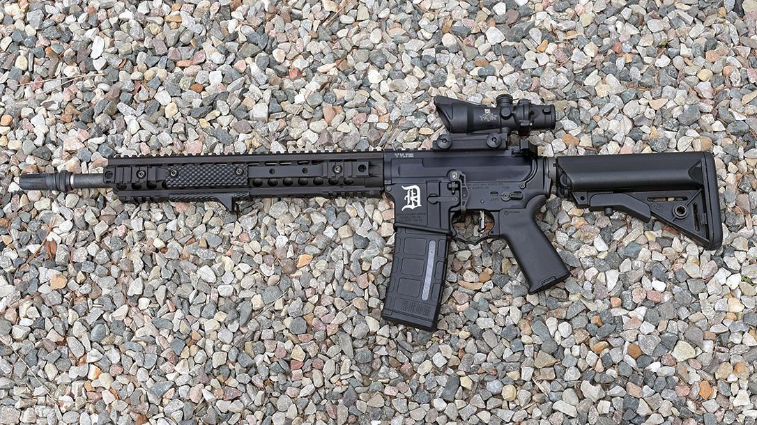 Motor City Gun Works Detroit Edition AR-15, left