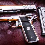 Nighthawk Firehawk 1911 pistol, Nighthawk Custom Firehawk compensator, apart