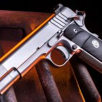 Nighthawk Firehawk 1911 pistol, Nighthawk Custom Firehawk compensator, left