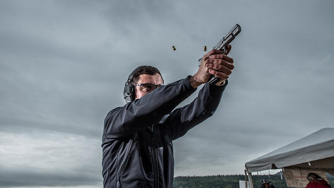 Nighthawk Firehawk 1911 pistol, Nighthawk Custom Firehawk compensator, range test