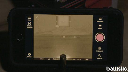 Pulsar Trail XP50 Thermal Riflescope, smartphone view