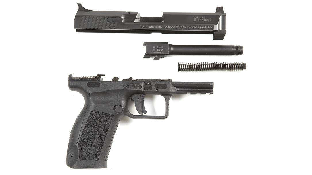 Canik TP9SFT pistol review, apart
