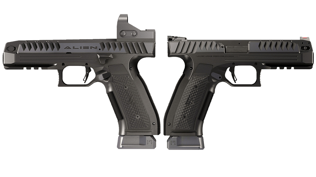 Laugo Arms Alien pistol, low bore axis, lead