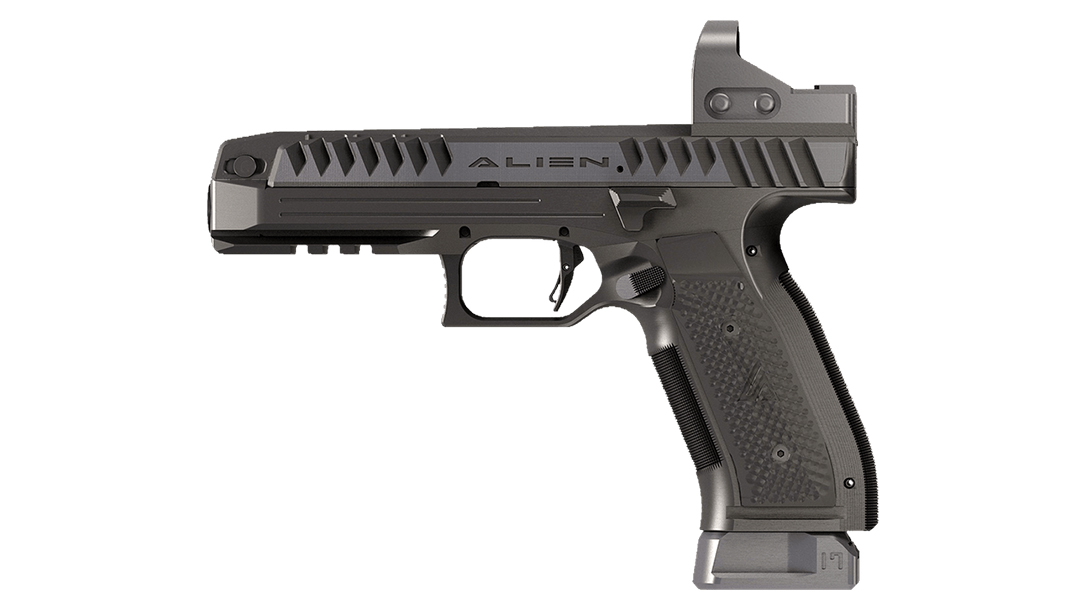 Laugo Arms Alien pistol, red dot sight