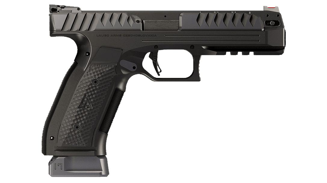 Laugo Arms Alien pistol, 9mm bore axis