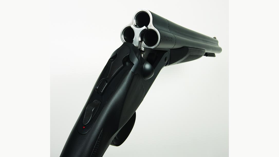 Charles Daly Honcho Triple Barrel 12-Gauge Shotgun, open